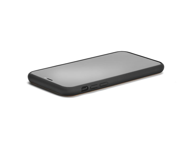 iPhone X-XS Holzhülle Walnussholz - Seite links
