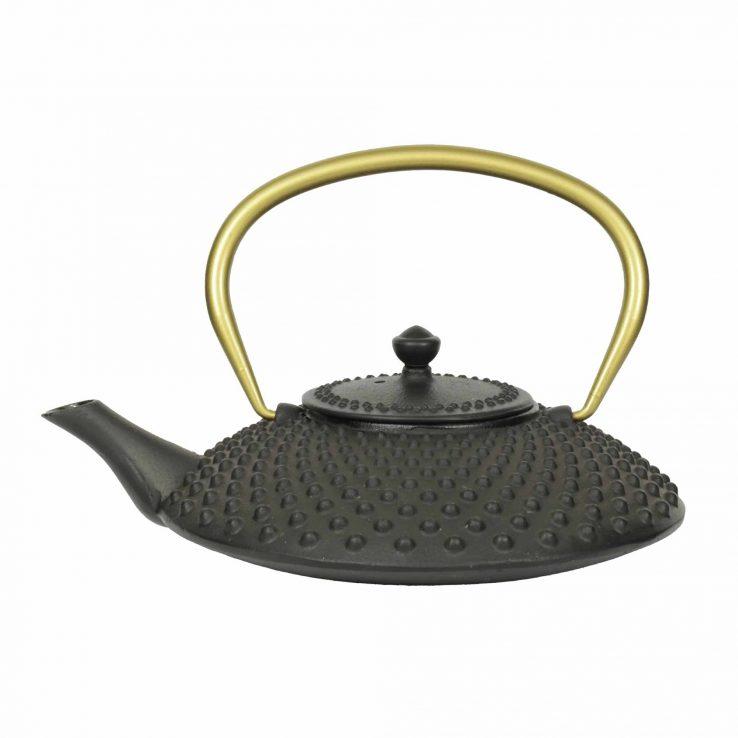 Teekanne aus Gusseisen Kambin schwarz-gold