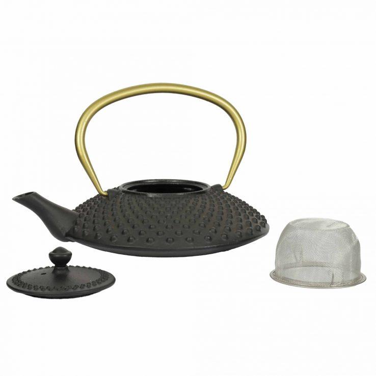 Teekanne aus Gusseisen Kambin schwarz-gold, Lookbook