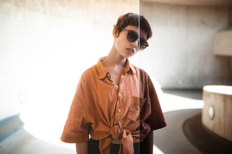 Holz-Sonnenbrille Helena Lookbook