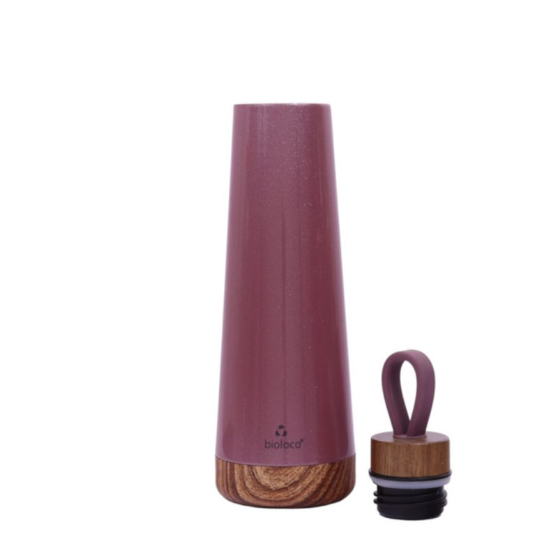 Bioloco Loop Isolierflasche aus Edelstahl 500ml pflaume
