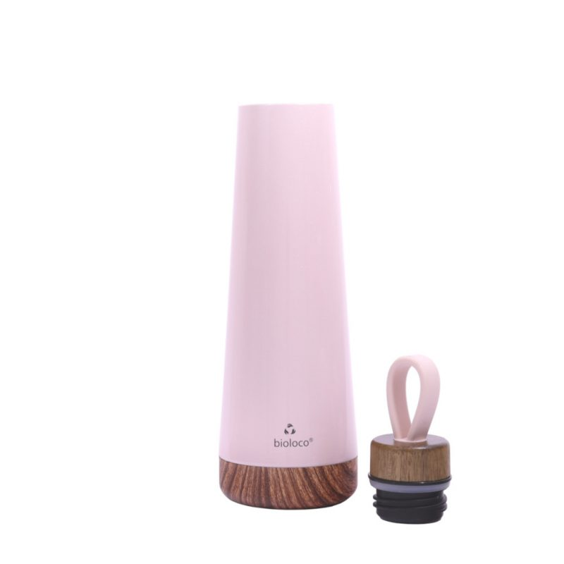 Bioloco Loop Isolierflasche aus Edelstahl 500ml rosa