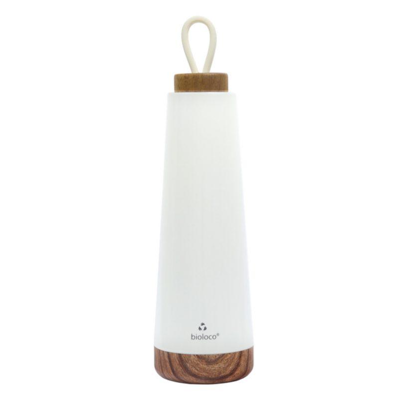 Bioloco Loop Isolierflasche aus Edelstahl 500ml weiß
