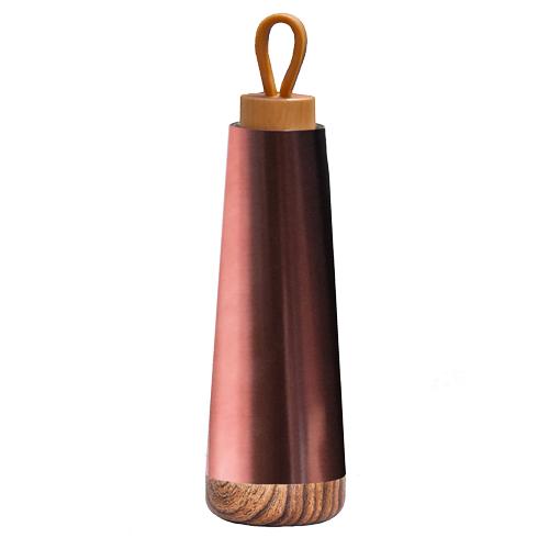 Bioloco-Loop Isolierflasche aus Edelstahl metallic braun