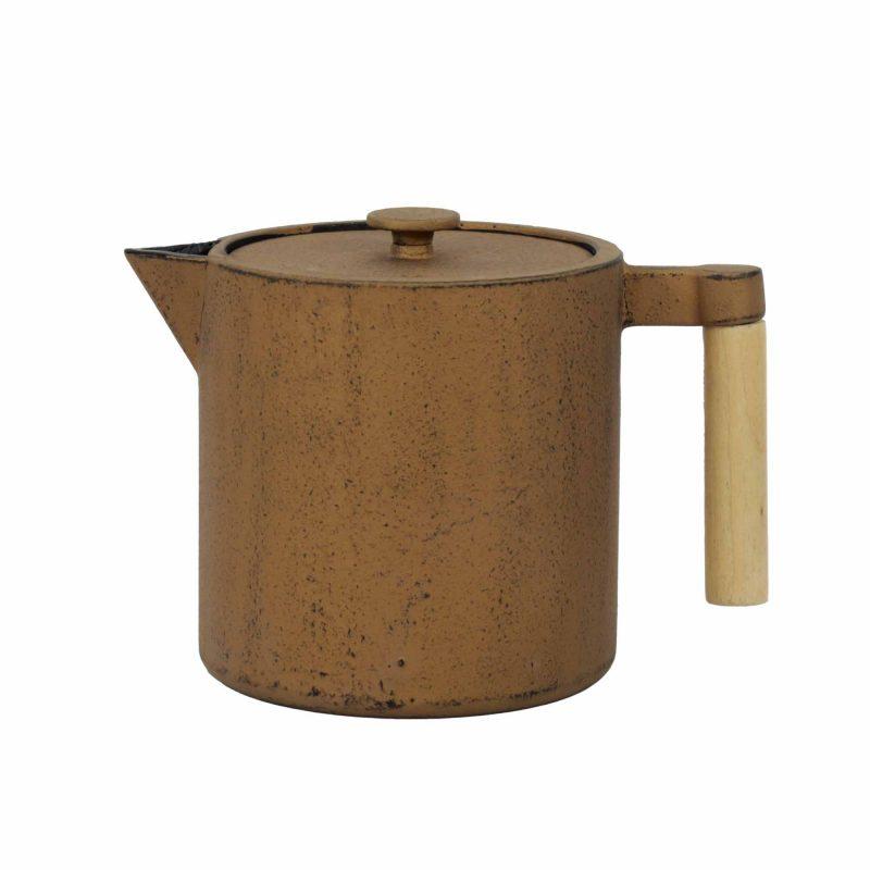 Teekanne aus Gusseisen 'Chiisana' in Kupfer