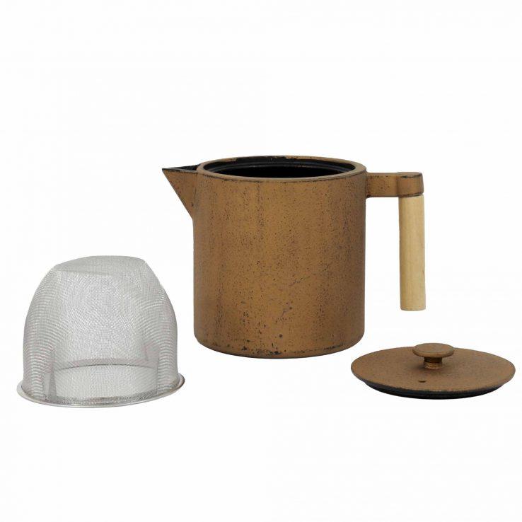 Teekanne aus Gusseisen 'Chiisana' in Kupfer, Set