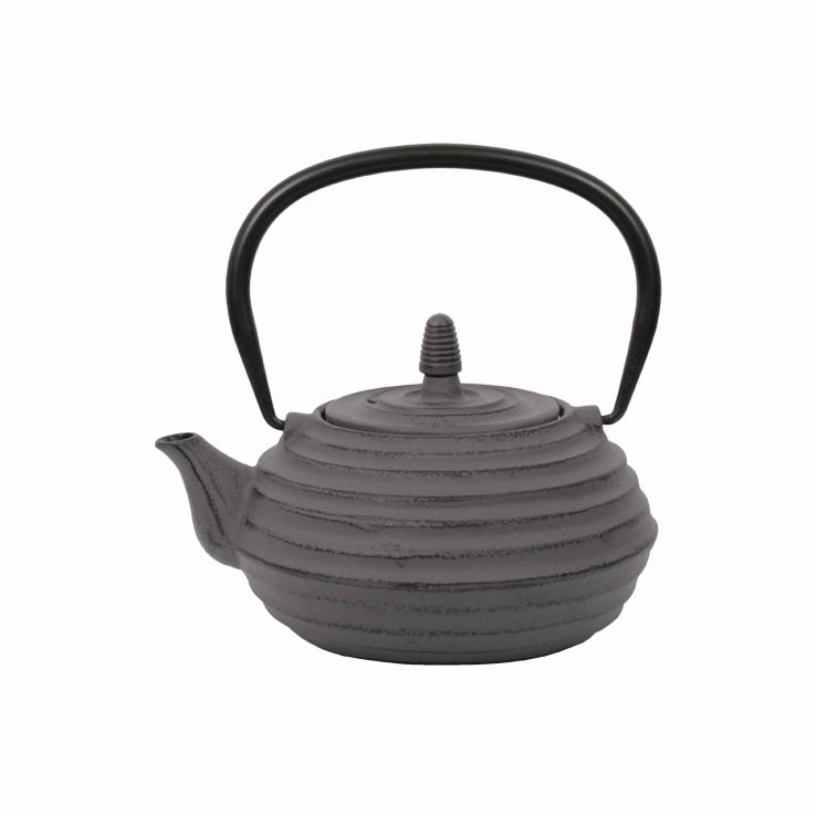 Teekanne aus Gusseisen 'Zubu' in Grau