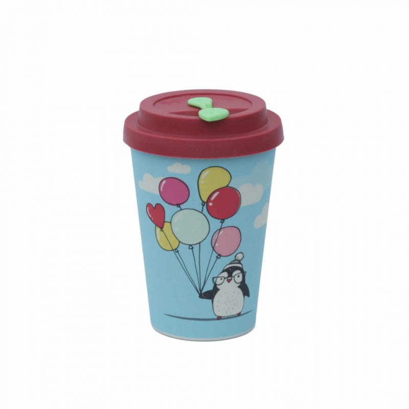 Trinkbecher Bambus HappyBamboo 350ml Pinguin