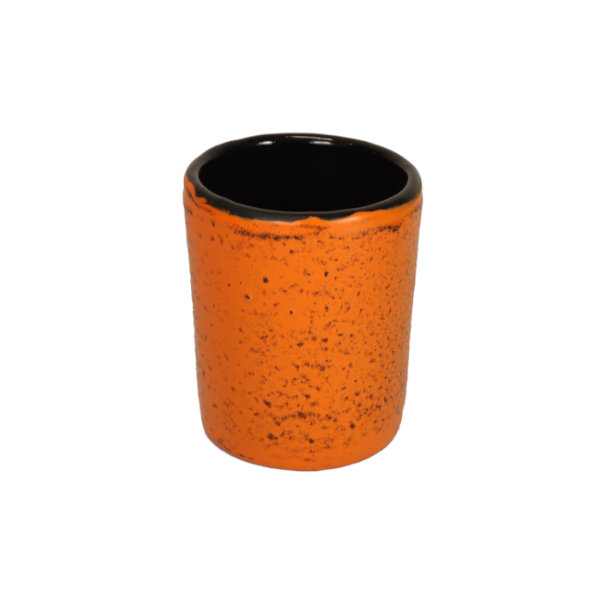 Teebecher aus Gusseisen, 150ml, orange