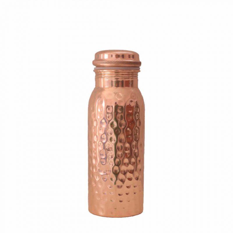 Kupferflasche gehaemmert 600ml