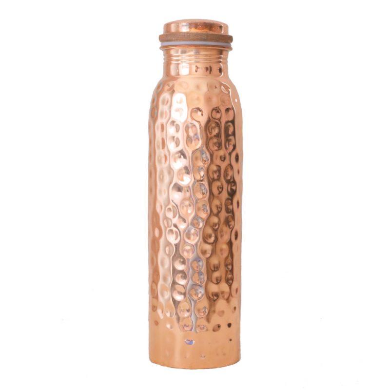 Kupferflasche gehaemmert 900ml