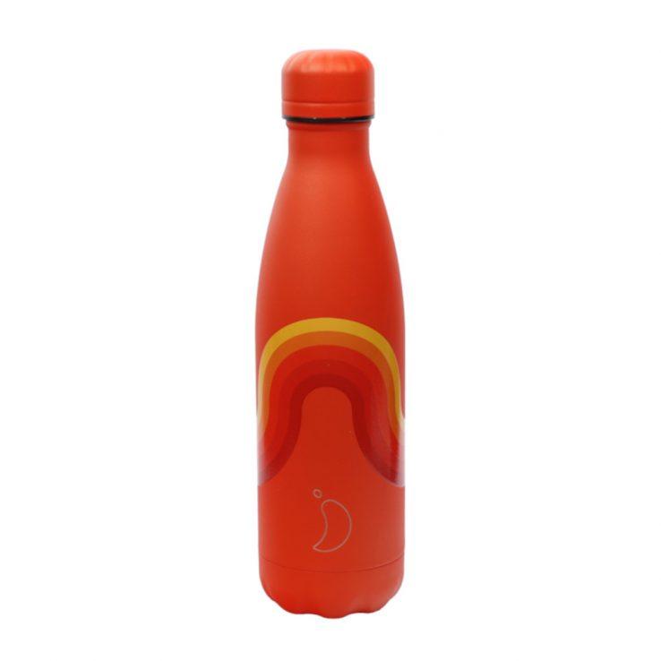 Isolierflasche Retro Edition Wave, Orange 500ml