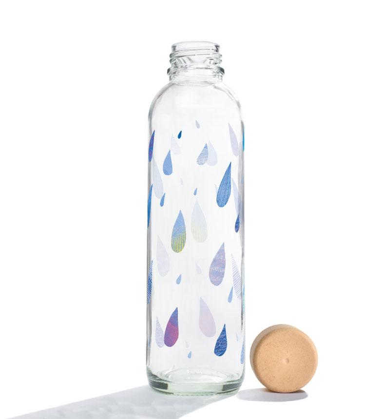 Trinkflasche aus Glas CARRY Bottles Drop in the Ocean 700ml Lookbook02
