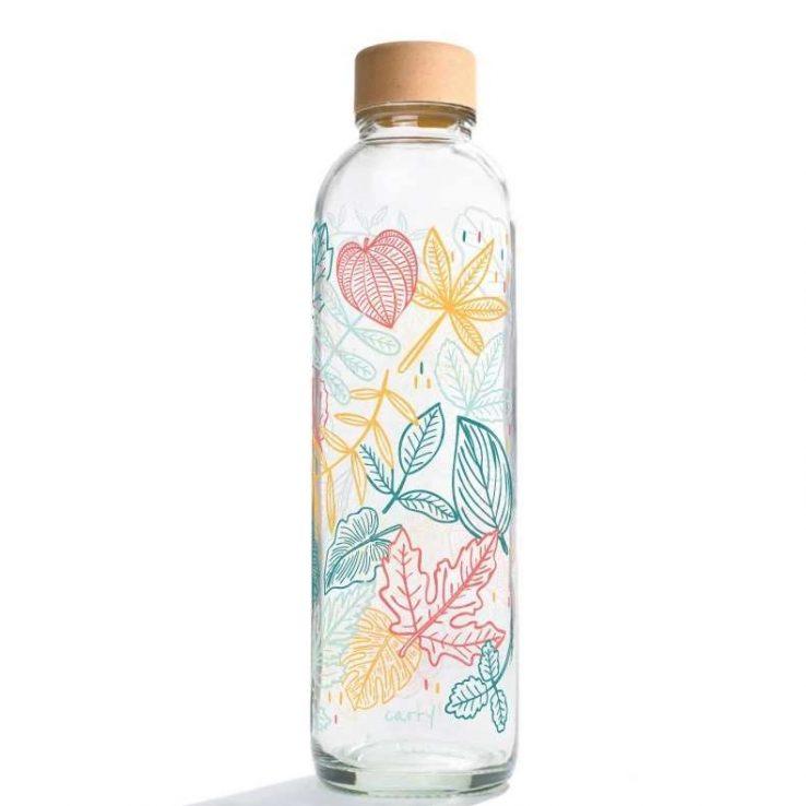 Trinkflasche aus Glas CARRY Bottles Falling Leaves 700ml Lookbook01