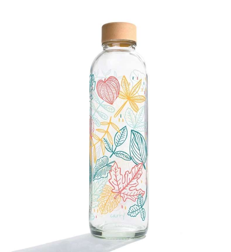 Trinkflasche aus Glas CARRY Bottles Falling Leaves 700ml Lookbook01