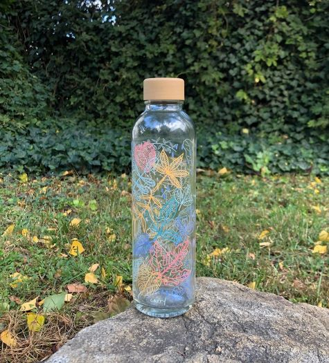 Trinkflasche aus Glas CARRY Bottles Falling Leaves 700ml Lookbook03