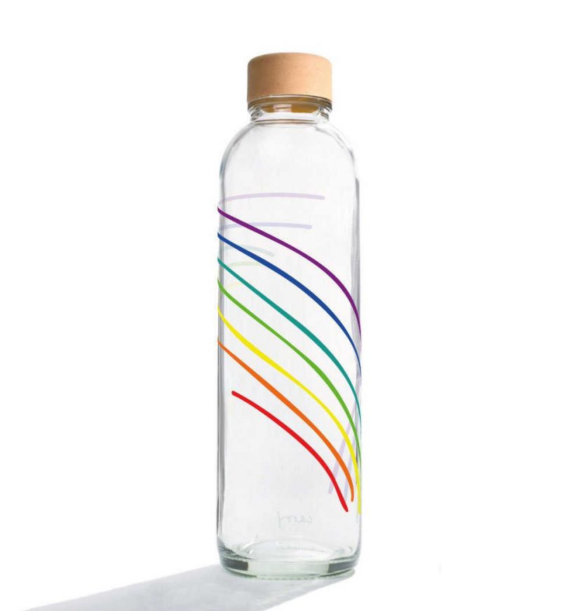 Trinkflasche aus Glas CARRY Bottles Rainbow 700ml Lookbook01