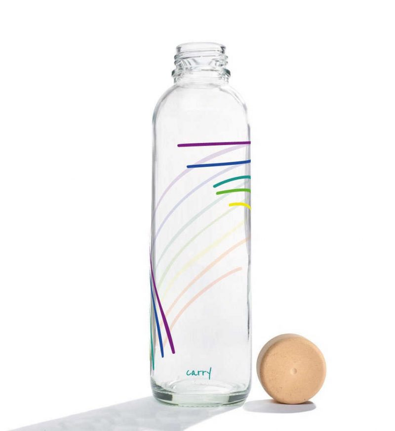 Trinkflasche aus Glas CARRY Bottles Rainbow 700ml Lookbook02