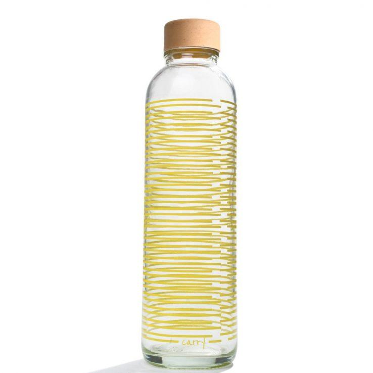 Trinkflasche aus Glas CARRY Bottles Yellow Twist 700ml Lookbook01