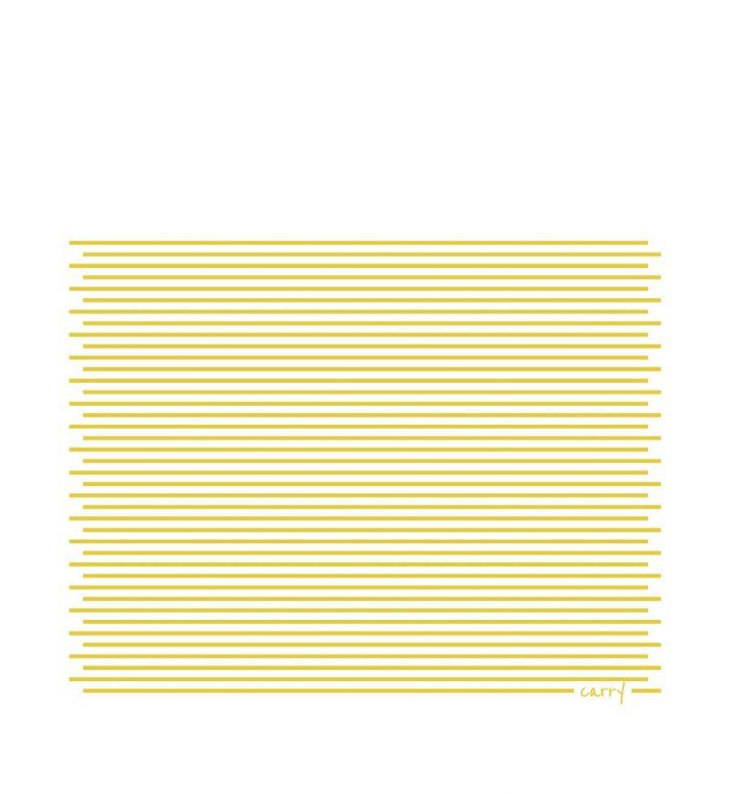 Trinkflasche aus Glas CARRY Bottles Yellow Twist 700ml Druckmuster