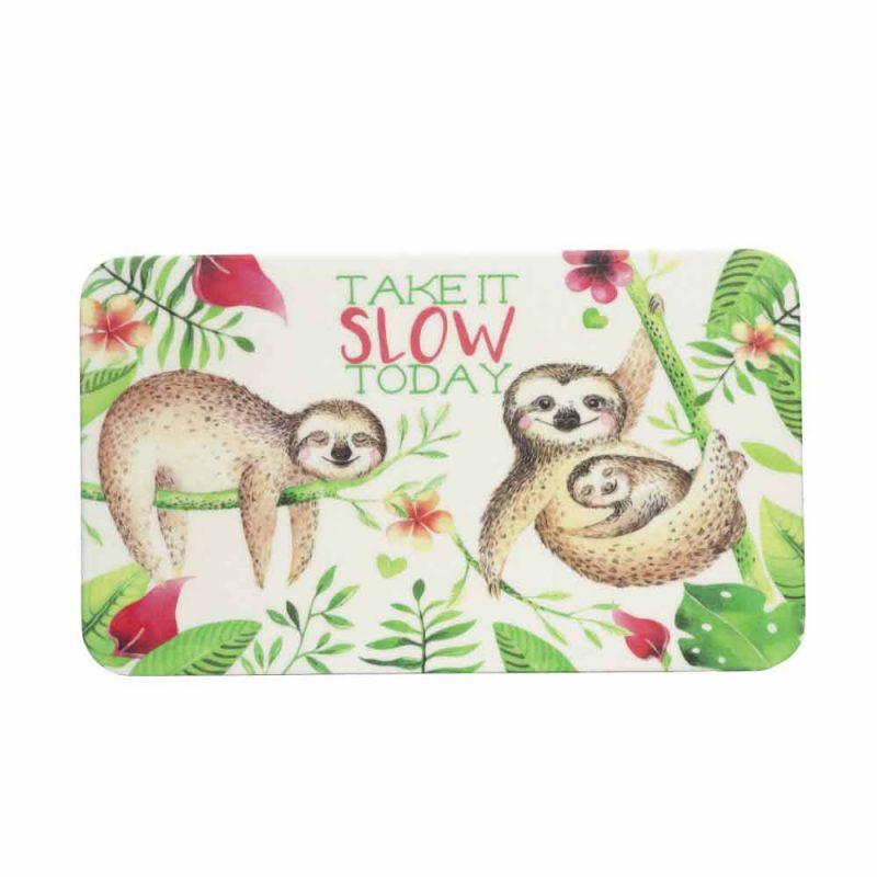 Frühstücksbrettchen aus Bambus 'Take It Slow'
