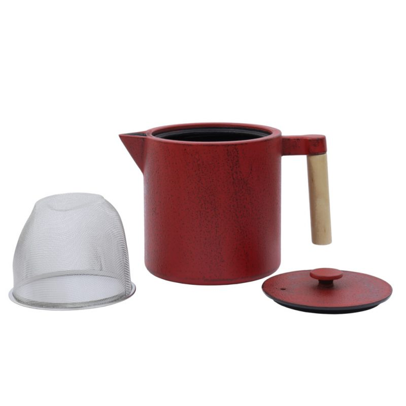 Teekanne aus Gusseisen Chiisana 800ml chili mit Deckel - Lookbook01