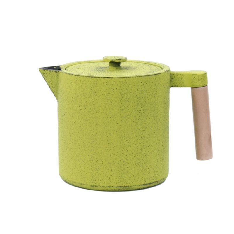 Teekanne aus Gusseisen Chiisana 800ml grün mit Deckel