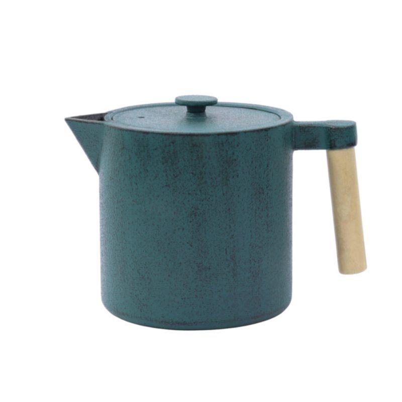 Teekanne aus Gusseisen Chiisana 800ml petrol mit Deckel