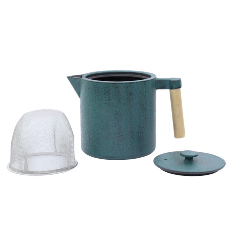 Teekanne aus Gusseisen Chiisana 800ml petrol mit Deckel - Lookbook01