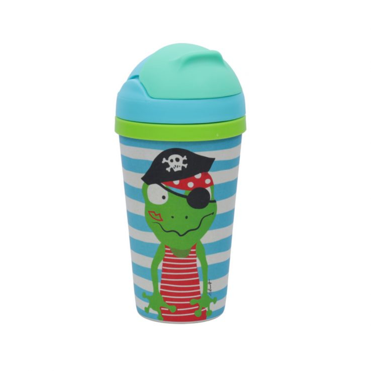 Trinkbecher aus Bambus BAMBOOfriends Piratenschatz Quaky 300ml