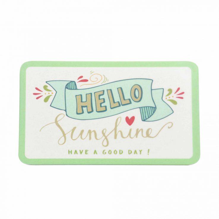 Frühstücksbrettchen aus Bambus 'Hello Sunshine'