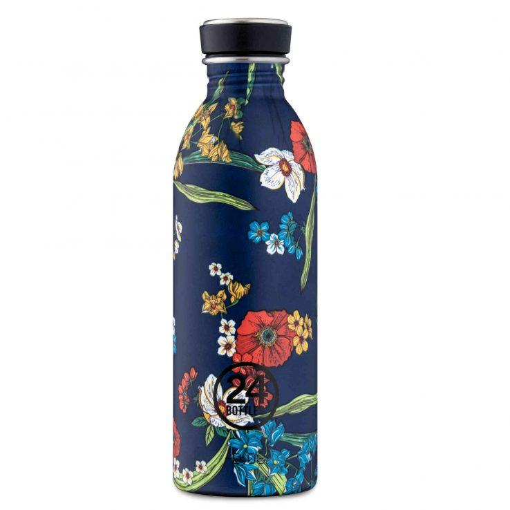 Trinkflasche aus Edelstahl, Urban - Denim Bouquet, 500ml