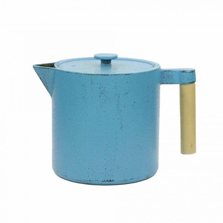Teekanne aus Gusseisen Chiisana 800ml - Blau mit Deckel