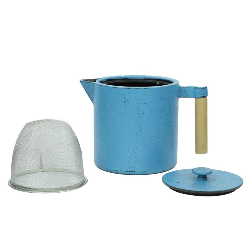 Teekanne aus Gusseisen Chiisana 800ml Blau mit Deckel - Lookbook01