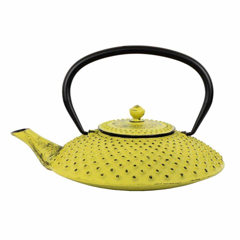 Teekanne aus Gusseisen 'Kambin' in Gelb