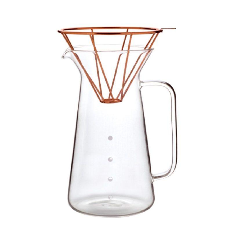 Karaffe aus Glas für Pour-Over Kaffee H.A.N.D – Kupfer, 300ml