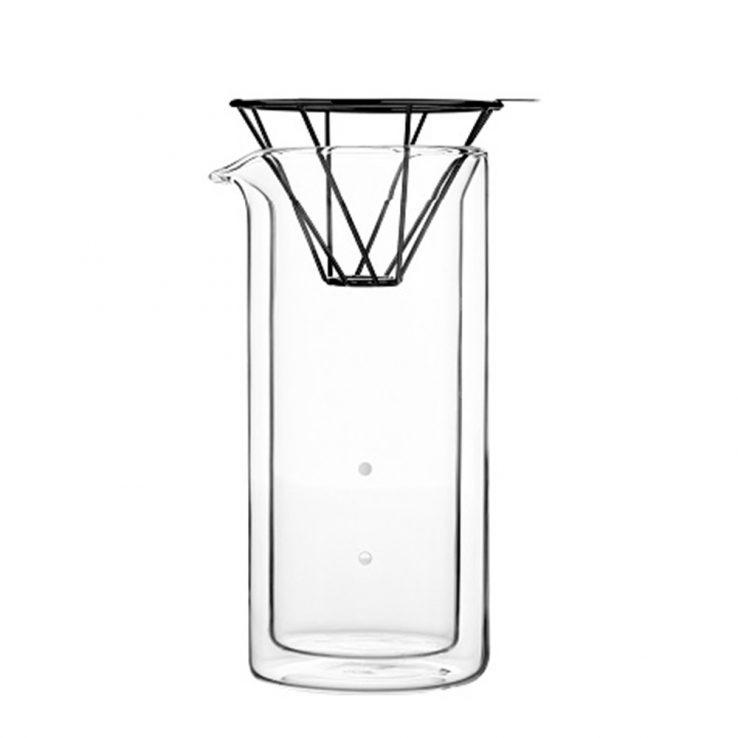 Karaffe aus Glas für Pour-Over Kaffee H.A.N.D – Schwarz, 300ml