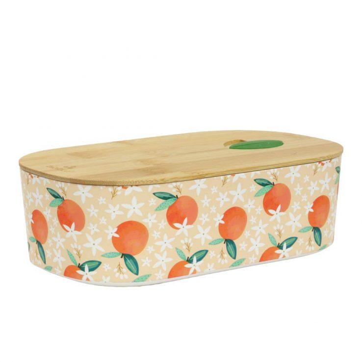Lunchbox Bioloco Plant aus PLA mit Bambusdeckel 'Orange'