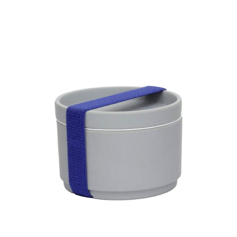 Lunchbox aus Bambus, Snackbox, Grey