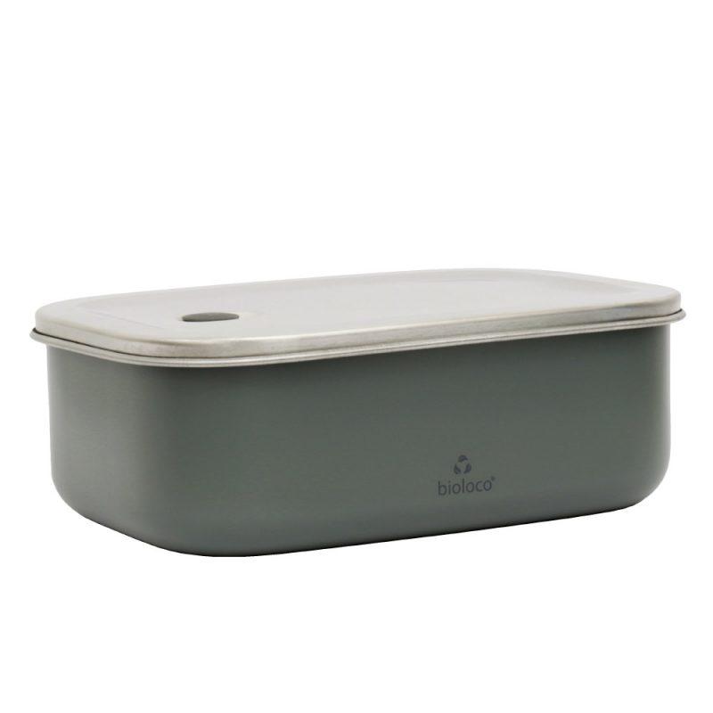 Lunchbox aus Edelstahl, Bioloco sky, Night Grey