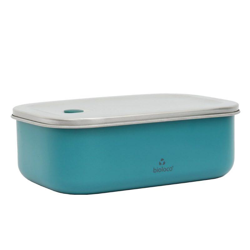Lunchbox aus Edelstahl, Bioloco sky, Teal
