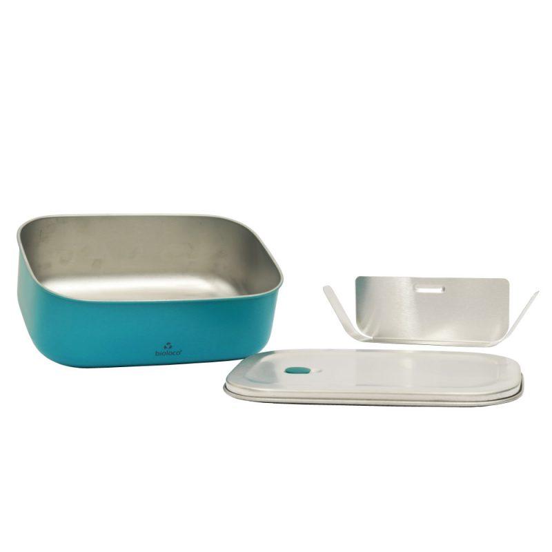 Lunchbox aus Edelstahl, Bioloco sky, Teal - Lieferumfang