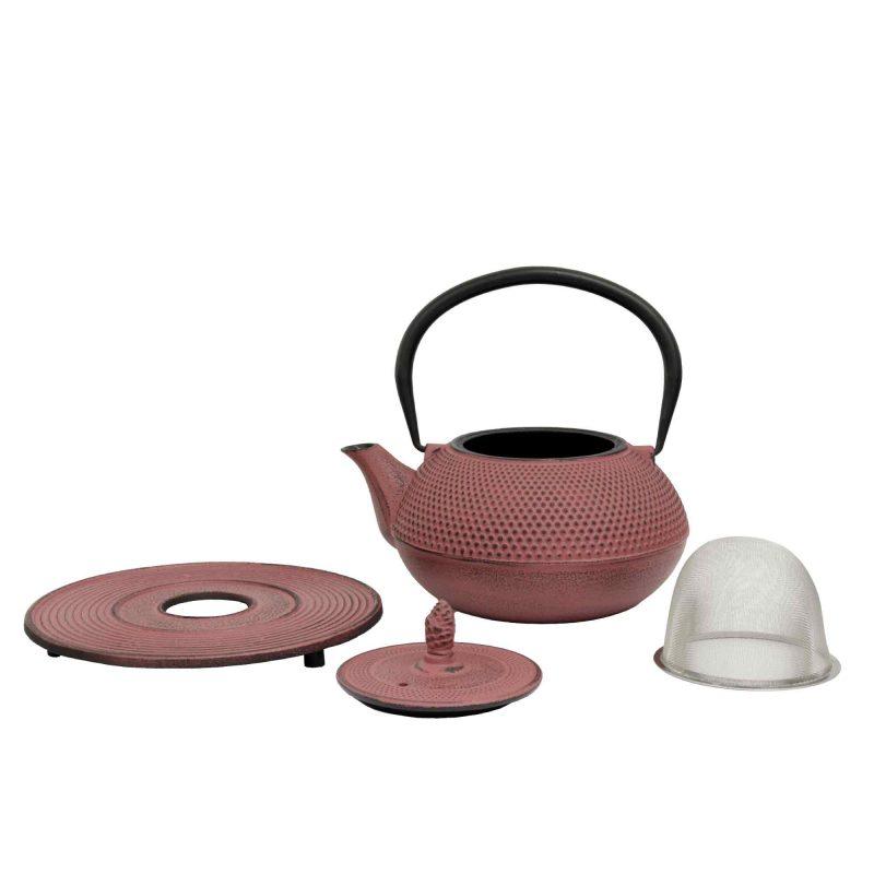 Teekanne aus Gusseisen 'Arare' in Lavendel - Lieferumfang