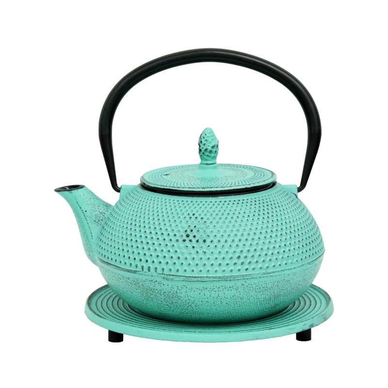 Teekanne aus Gusseisen 'Arare' in Lucite Grün