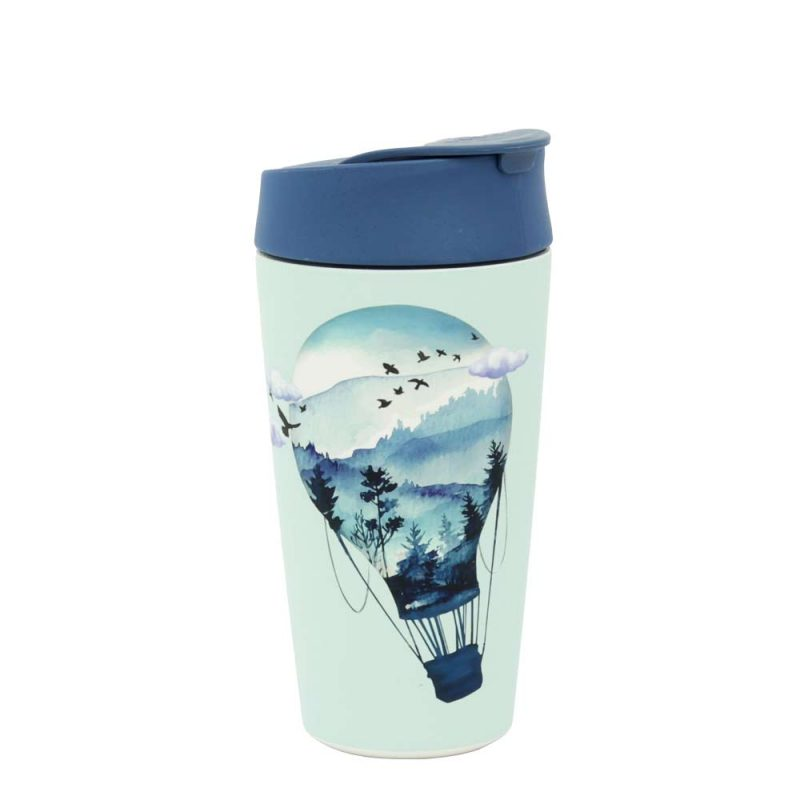 Kaffeebecher Bioloco Plant - Deluxe Cup 'Air Balloon', 420ml