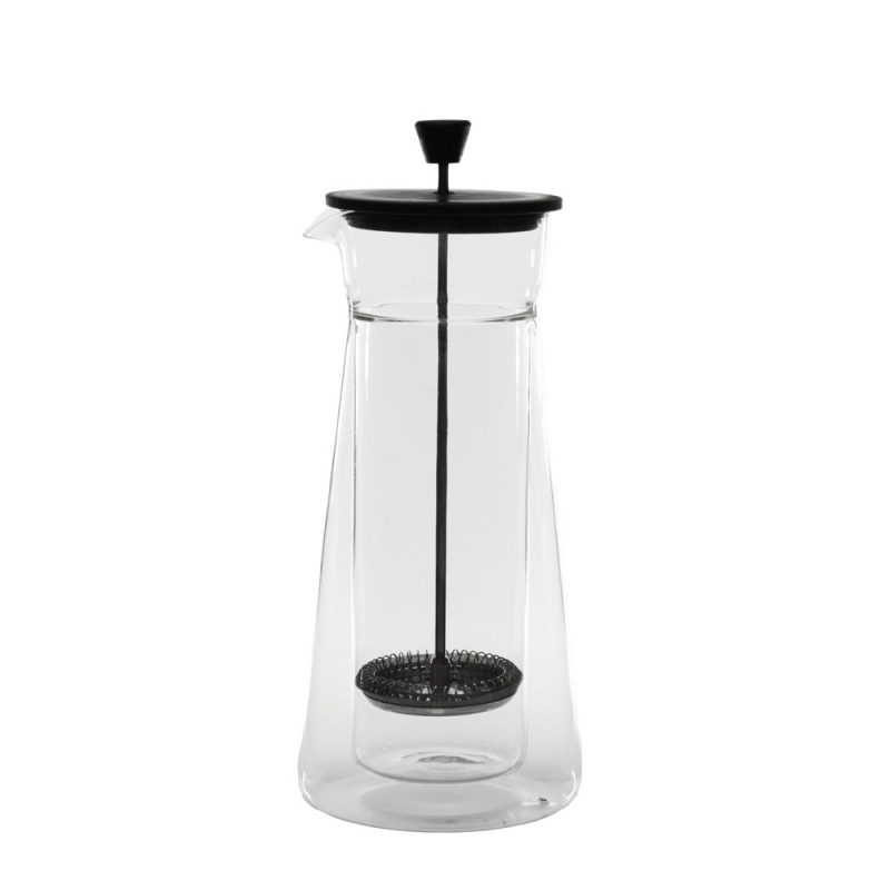 2-IN-1: Karaffe aus Glas Pour Over Kaffee AND French Press 'Piazza' 600ml, French Press
