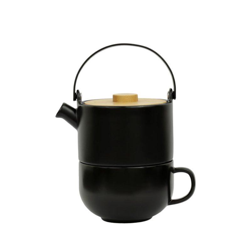 Tea for One UMEA, Teekanne im Set aus Porzellan, 500ml