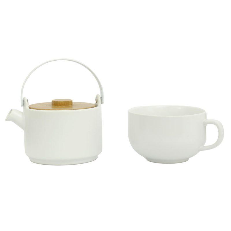 Tea for One UMEA, Teekanne im Set aus Porzellan in Weiß, 500ml - Lookbook 01