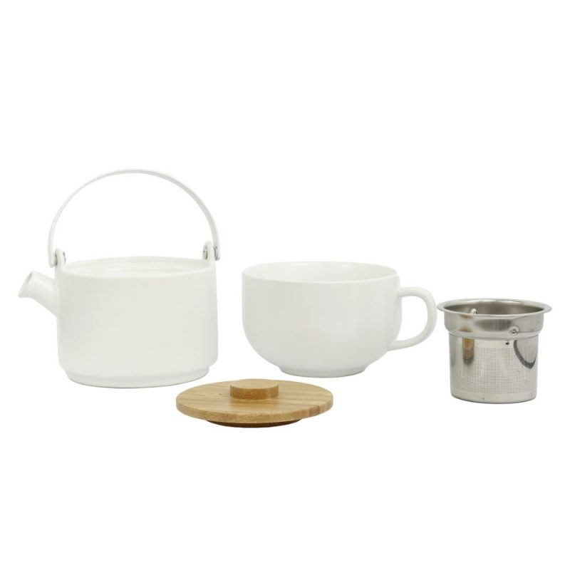 Tea for One UMEA, Teekanne im Set aus Porzellan in Weiß, 500ml - Lookbook 02