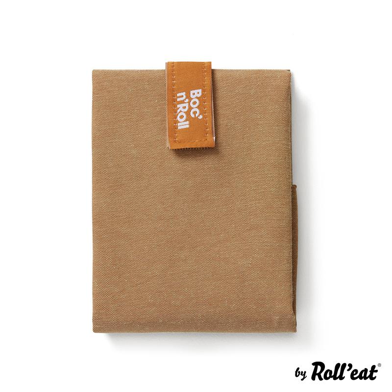 Sandwich Wrap und Brotzeittuch 'Boc 'n Roll' in Braun